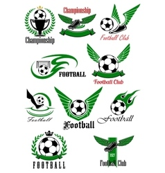 Football and soccer game cions vector image