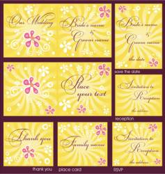 Wedding reception card vector