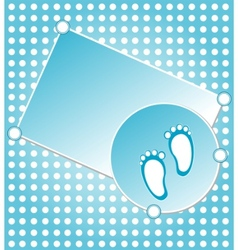Baby boy announcement vector