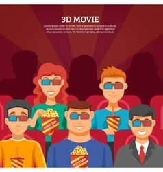 Cinema viewers design concept vector