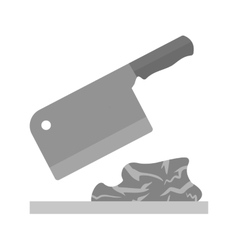 Meat cutting vector
