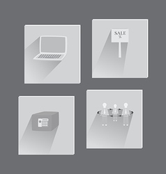 Set with business flat icons vector