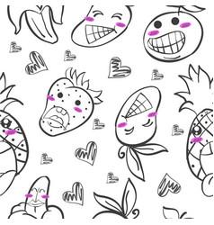 Art of fruit hand draw doodles vector