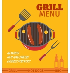 Bbq grill poster vector