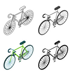 Bicycle icon in cartoon style isolated on white vector