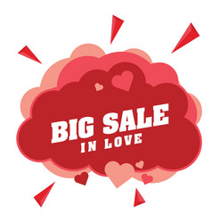 Big sale in love pink clound heart pink heart vect vector