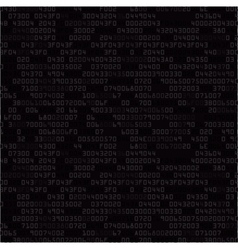Black security background with hex-code vector