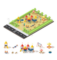 child playground isometric concept vector image vector image
