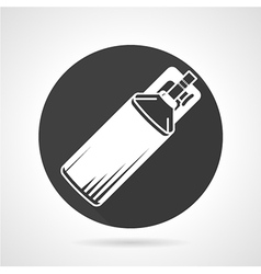 Co2 cylinder black round icon vector
