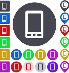 Color cellphone icon set vector