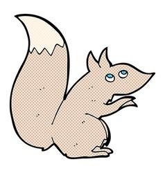 Comic cartoon squirrel vector