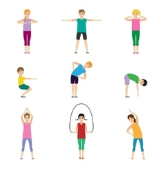 Gymnastics kids set vector