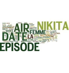 La femme nikita dvd review text background word vector
