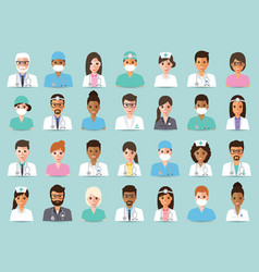 medical and hospital staff vector image vector image