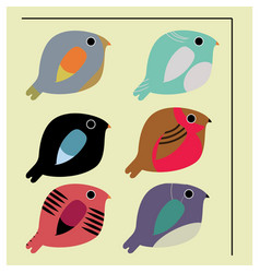 Minimalistic birds vector