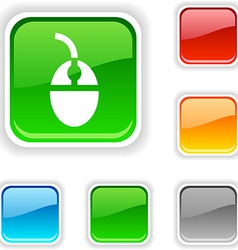 Mouse button vector image vector image