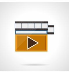 Online video flat color style icon vector image