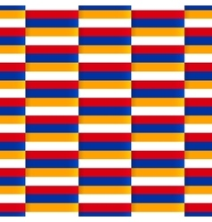 Seamless pattern with flag of armenia vector