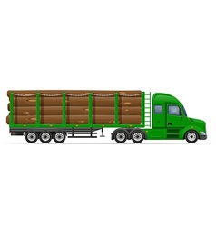 Semi truck trailer concept 09 vector