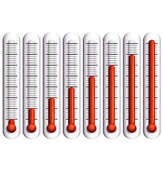 Set of thermometers on white vector image vector image