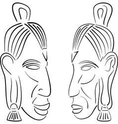 sketches of indians vector image vector image