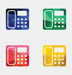Telephone icon abstract triangle vector