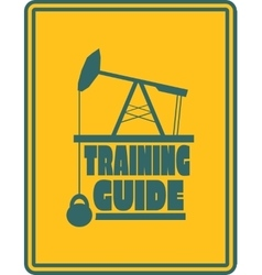 Training guide text Gym and Fitness relative vector image vector image