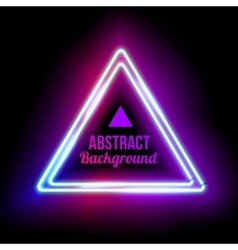 Triangle border with light effects vector