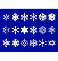 vector snowflakes set vector image vector image
