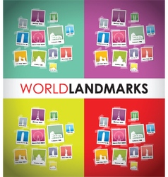 World landmarks group vector