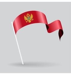 Montenegro wavy flag vector image