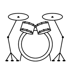 Drumps music instrument isolated vector