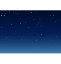 Shooting star in night sky vector