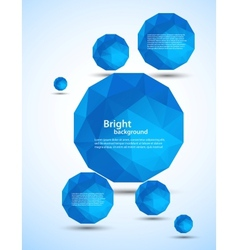 Abstract background with blue spheres vector