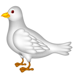 White dove cartoon vector