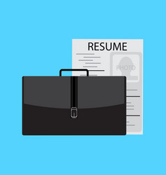 job search and interview vector image