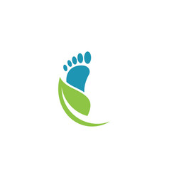 foot logo template vector image