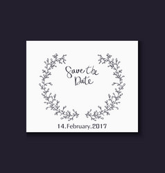 Wedding invitation with lettering decorative with vector