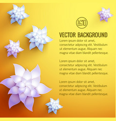 Flower decorations background vector