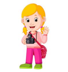 cartoon character - photographer vector image