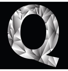 Crystal letter q vector