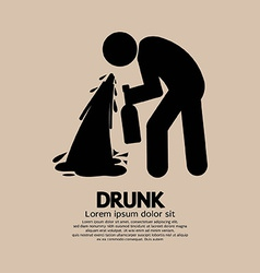Drunk Person Graphic Symbol vector image