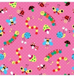 Meadow kids pattern vector