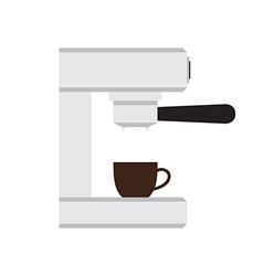Coffee machine with cup in love heart illus vector