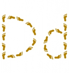 traces letter d vector image