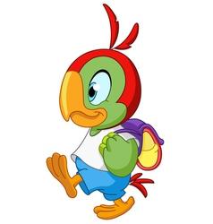 school parrot vector image