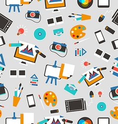 Seamless pattern with design equipment vector