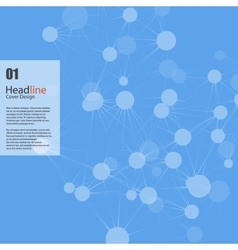 Connect background headline design vector