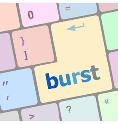 Computer keyboard with burst key business concept vector