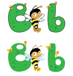 letter B bee vector image